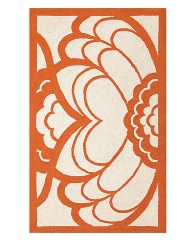 Trina Turk Deco Floral Hook Rug [Orange]