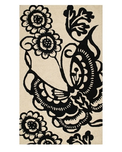 Trina Turk Butterfly Hook Rug3' x 5' [Black]