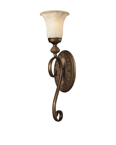 Trump Home Briarcliff 1-Light Wall Sconce in Weathered Umber