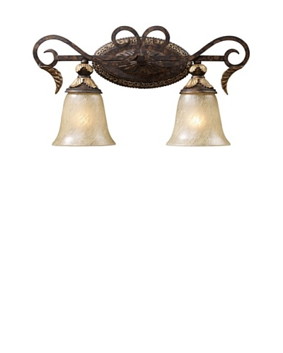 Trump Home Regency 2-Light Vanity in Burnt Bronze