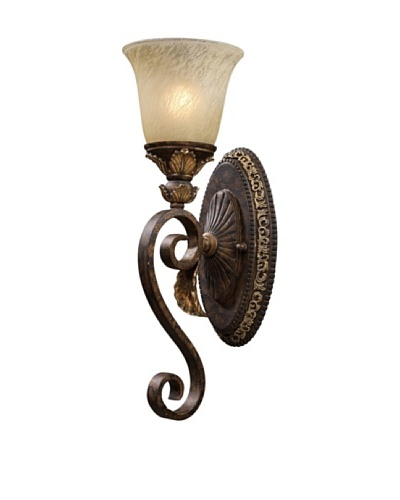 Trump Home Regency 1-Light Wall Sconce in Burnt Bronze