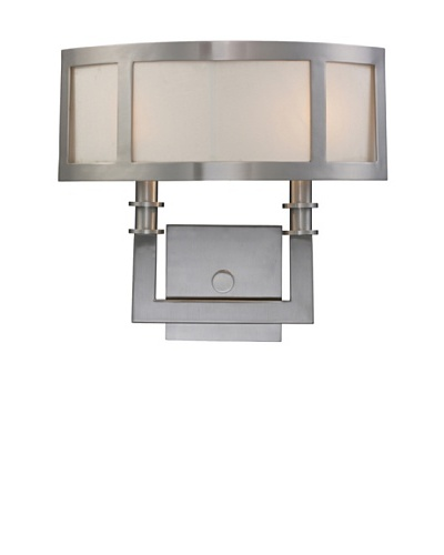 Trump Home Seven Springs 2-Light Sconce in Satin Nickel