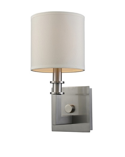 Trump Home Seven Springs 1-Light Sconce in Satin Nickel