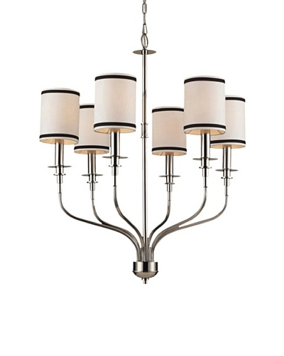 Trump Home Tribeca 6-Light Chandelier in Polished Nickel