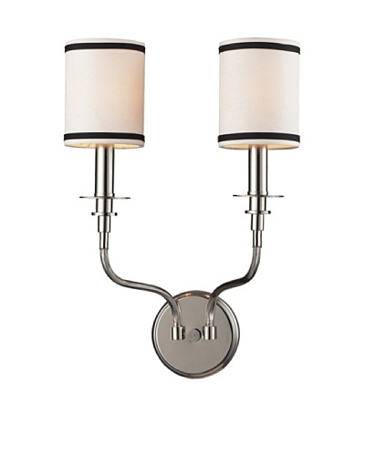 Trump Home Tribeca 2-Light Wall Bracket in Polished Nickel