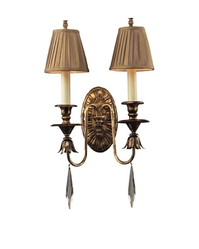 Trump Home Bedminster 2-Light Sconce in Burnt Gold Leaf