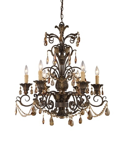 Trump Home Rochelle 6-Light Chandelier with Amber Crystal
