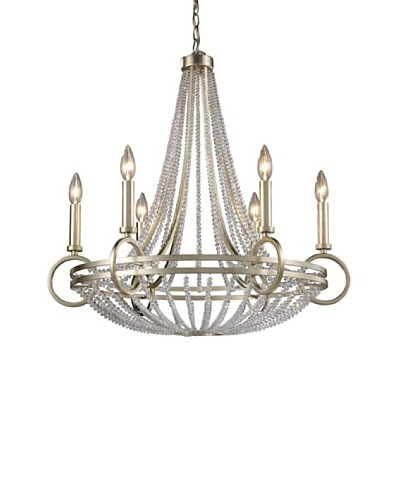 Trump Home New York 6-Light Chandelier in Renaissance Silver