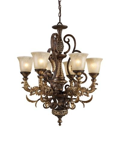 Trump Home Regency 6-Light Chandelier in Burnt Bronze