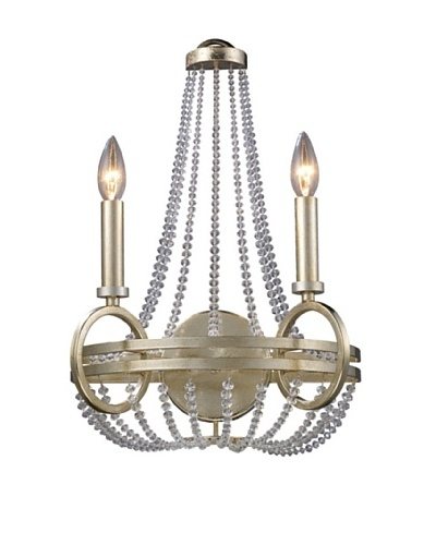 Trump Home New York 2-Light Sconce in Renaissance Silver