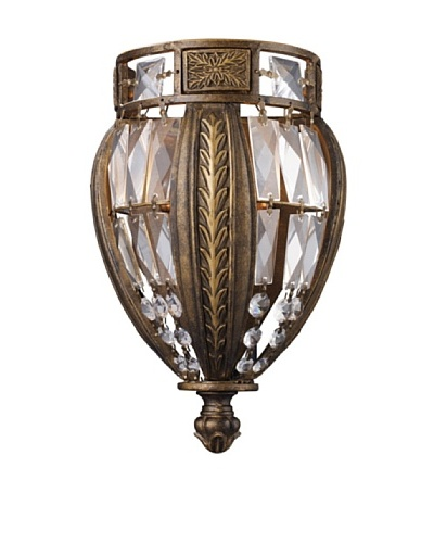 Trump Home Millwood 1-Light Sconce in Antique Bronze
