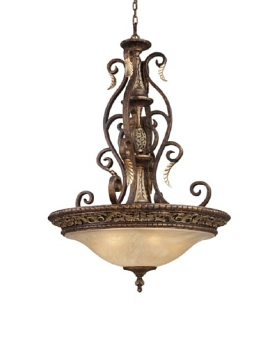 Trump Home Regency 5-Light Pendant in Burnt Bronze