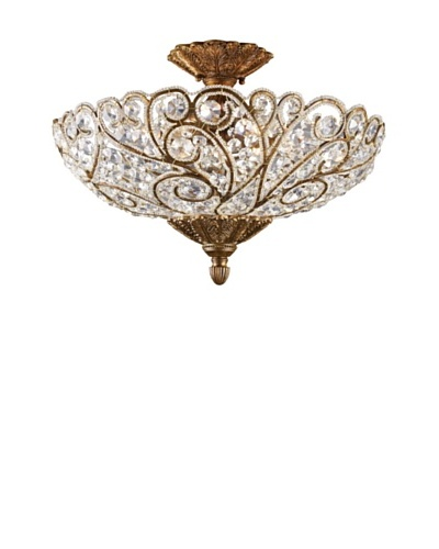 Trump Home Senecal 6-Light Semi Flush in Spanish Bronze