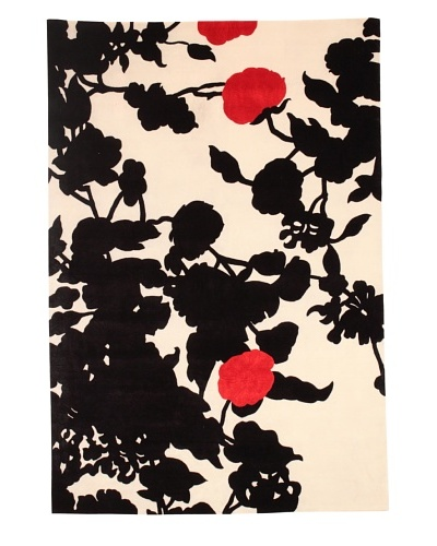 Fiore Rosso Rug [Black/Red/Cream]