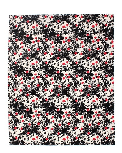 Tuleh Prato Rosso Rug, Black/Red/Cream, 8' x 10'As You See