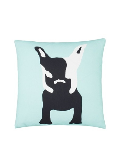 Twinkle Living Milan's Imaginary Friend Pillow Cover, Seafoam/Black, 18 x 18