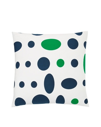 Twinkle Living Large Cosmic Pillow Cover, Navy/Green, 18 x 18