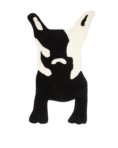 Twinkle Living Milan's Imaginary Friend Rug, Black/White, 32 x 19