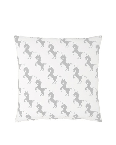 Twinkle Living Unicorns Array Pillow Cover [Grey/White]