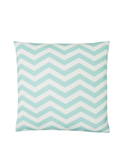 "Twinkle Living Zig-Zag Pillow Cover, Seafoam/White, 18"" x 18"""