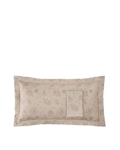 Twinkle Living Pair of Rose Pillow Shams [Walnut/Grape]