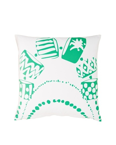 Twinkle Living Necklace Pillow Cover [White/Green]
