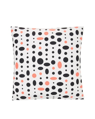 Twinkle Living Large Cosmic Pillow Cover, Black/Pink, 18 x 18