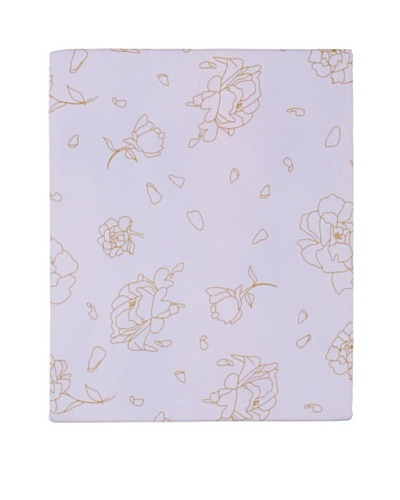 Twinkle Living Rose Fitted Sheet [Lavender/French Grey]