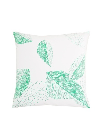 Twinkle Living Cascade Pillow Cover [White/Green]