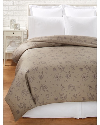 Twinkle Living Rose Duvet Cover [Walnut/Grape]