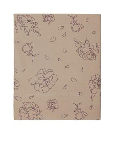 Twinkle Living Rose Flat Sheet [Walnut/Grape]