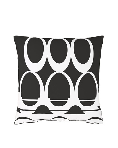Twinkle Living Moondance Pillow Cover [Black/White]