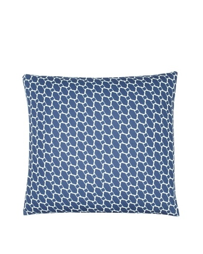 "Twinkle Living Lego Pillow Cover, Navy/White, 18"" x 18"""