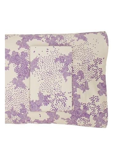 Twinkle Living Pair of Dew Pillowcases [Dove/Plum]