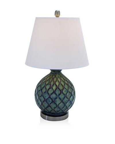 UMA Set of 2 Polystone Table Lamps, Cool Multi