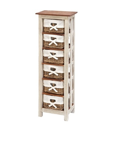 Uma Solid Wood Rattan Cabinet, White