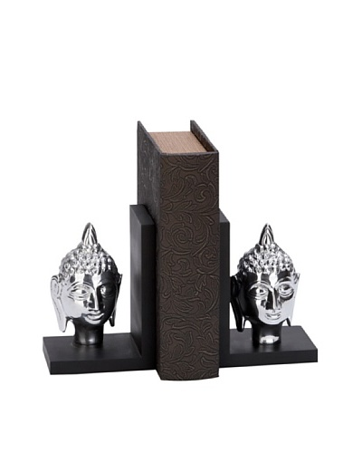 UMA Metal Buddha Head BookendsAs You See