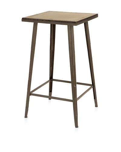 UMA Metal/Wood Bar Table, Dark Brown
