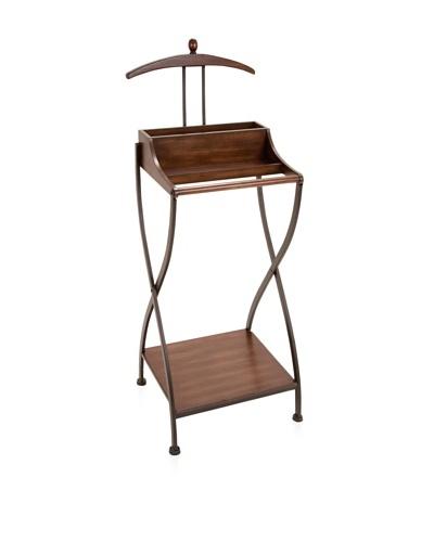 UMA Metal/Wood Coat Rack, Brown