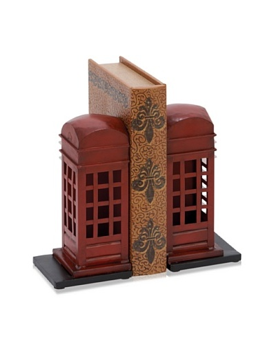 UMA Metal Phone Booth Bookends