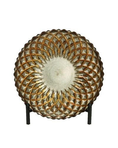 Glass Metal Bowl with Easel