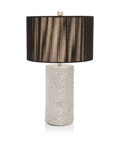 UMA Ceramic Table Lamp, Silver/Black