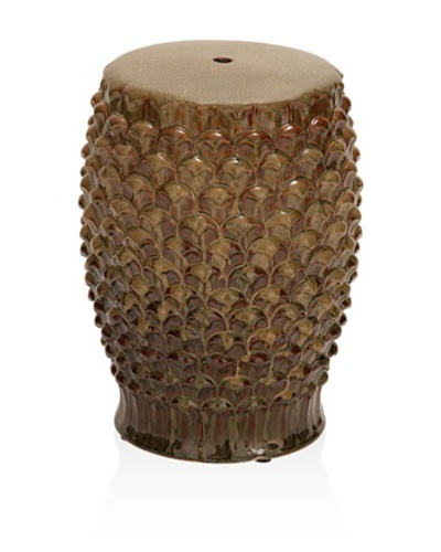 UMA Ceramic Stool, Brown