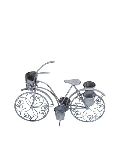 Metal Bicycle Planter II