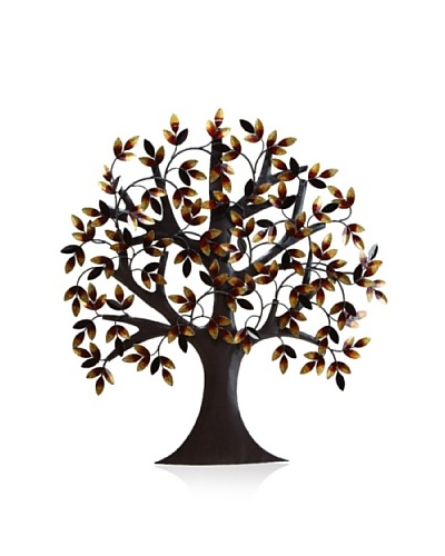 Leafy Tree Wall Plaque