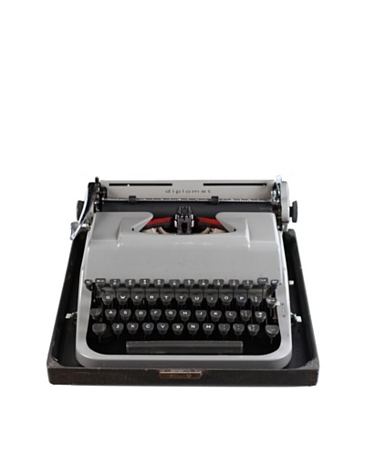 Underwood Vintage Typewriter, Grey