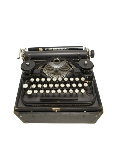 Underwood Vintage Typewriter, Black