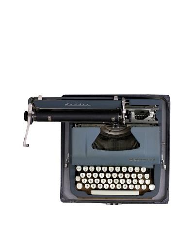 Underwood Vintage Typewriter, Blue/Cream
