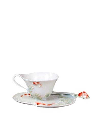 Unicorn Studio Koi Coffee Cup Set with Spoon