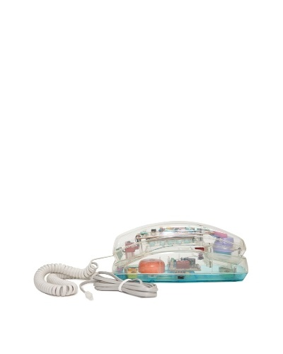 Unisonic Vintage Telephone, Clear/White